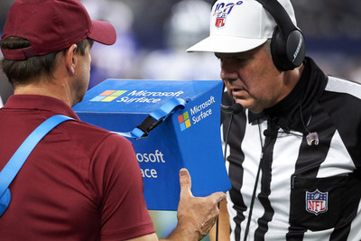 Microsoft NFL Surface Instant Replay